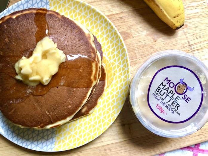 moose maple butter pancakes