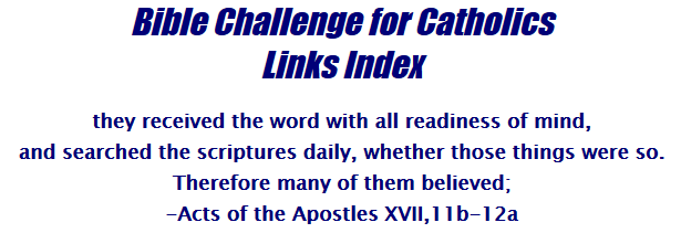 Bible Challenge for Catholics LINKS INDEX