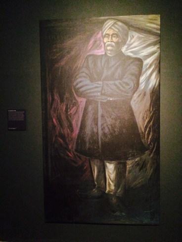 Portrait of Lala Lajpat Rai, Gujral's first major commission