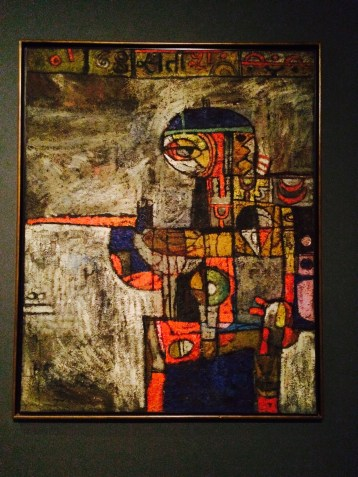 During early 60's, Gujral temporarily rejected the depiction of the body in favor of more visually abstracted forms.