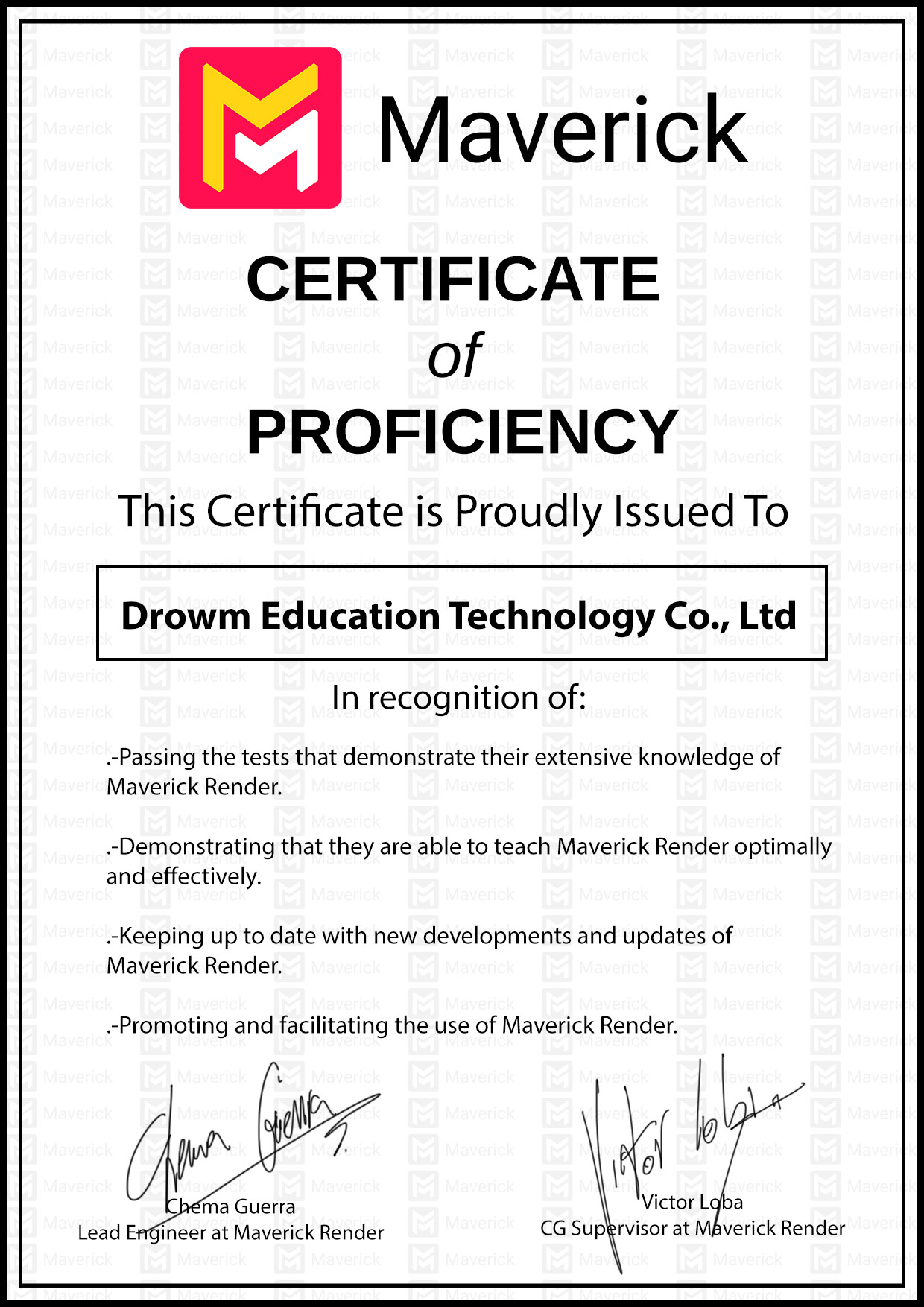 maverickrender-certificate-of-proficiency-drowm