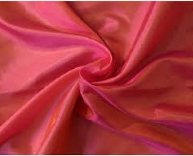 Polyester Plain Pure Lotus Silk Fabric, Gsm: 80 To 120, Rs 78 /meter | ID:  21312252355