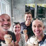 Eric, Lydie et Bernie chez Rossini Ice cream a Lamai