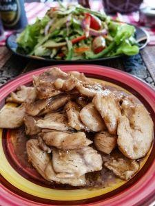 Poulet sauce cacahuète, recette thai, au restaurant la Cantine a Lamai