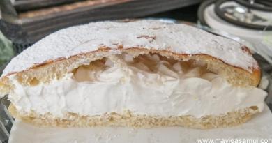Tarte Tropézienne Yummy a la Boulangerie Tapisserie chez Seb a Lamai