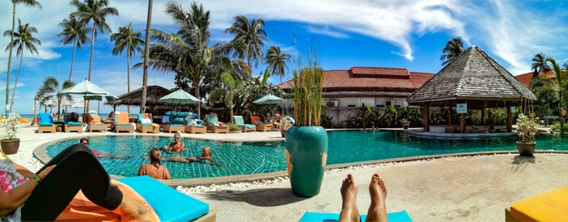 La Piscine du Shiva Samui Beach Club sur l'île de Koh Samui en Thaïlande.