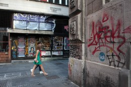 Ulica Kaplara, Beograd, Serbia.