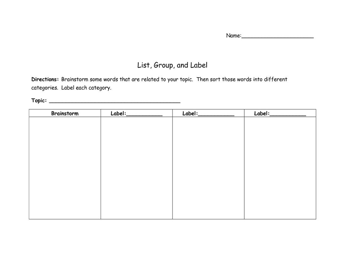 List Group Label