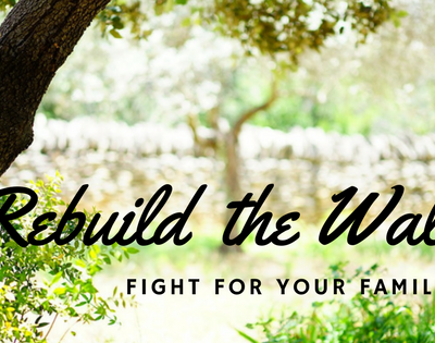 Rebuild the Walls! Fight for Your Families, Your Sons And Your Daughters!