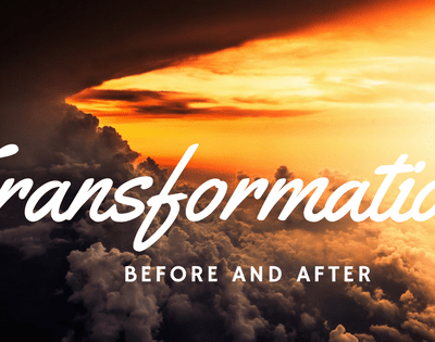Before and After! God's Transformation at Work!