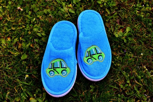 Blue slippers - Shoes of Humility