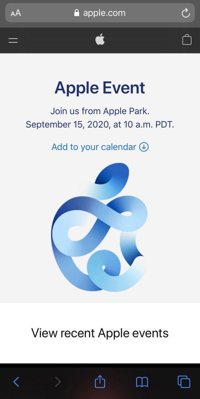 Apple Eventは,日本時間9月16日午前2時から