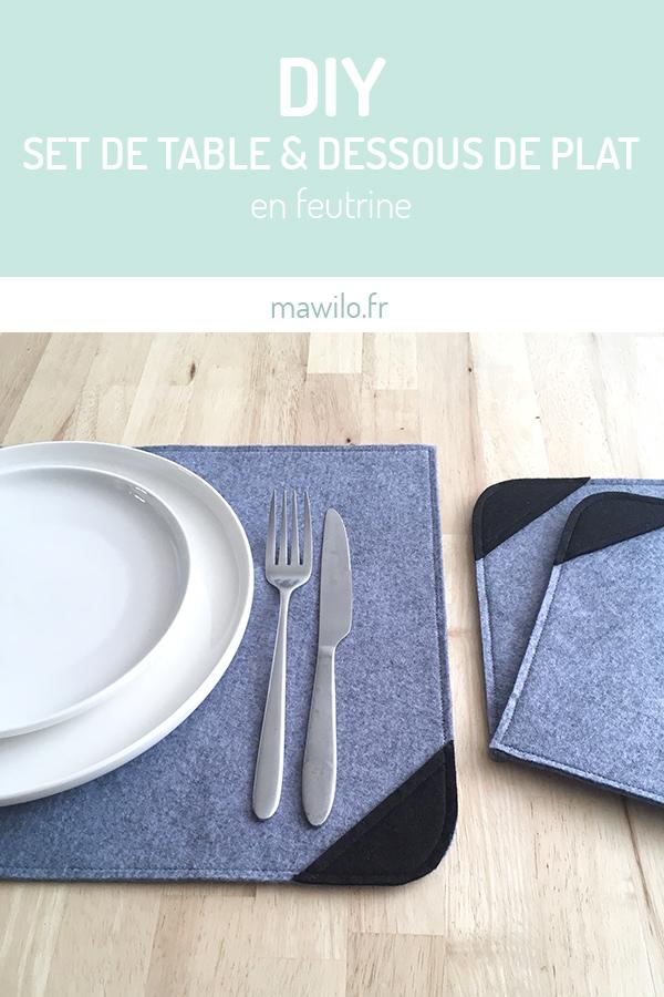 Diy Set De Table Et Dessous De Plat En Feutrine Mawilo Fr