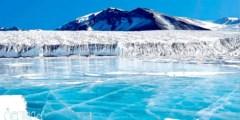 لماذا يغطي الثلج اليابسة بينما لم يتحول الماء الى جليد