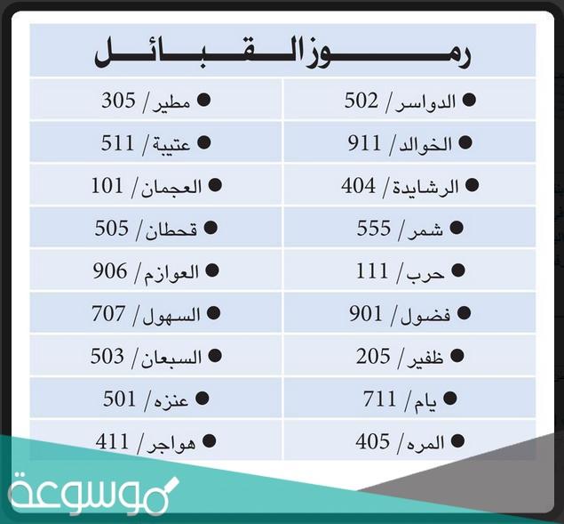 رمز قبيلة مطير في السعودية