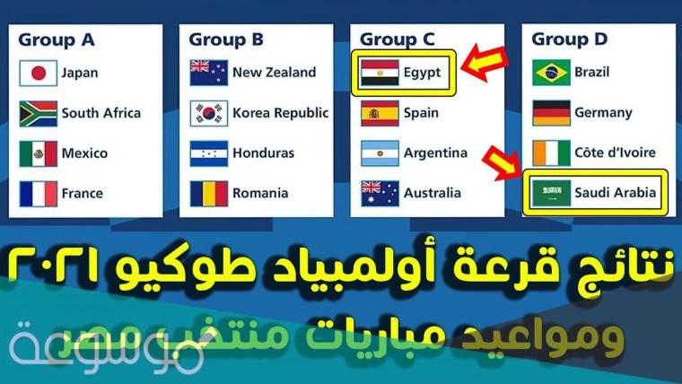 مجموعه مصر في اولمبياد طوكيو لكرة القدم