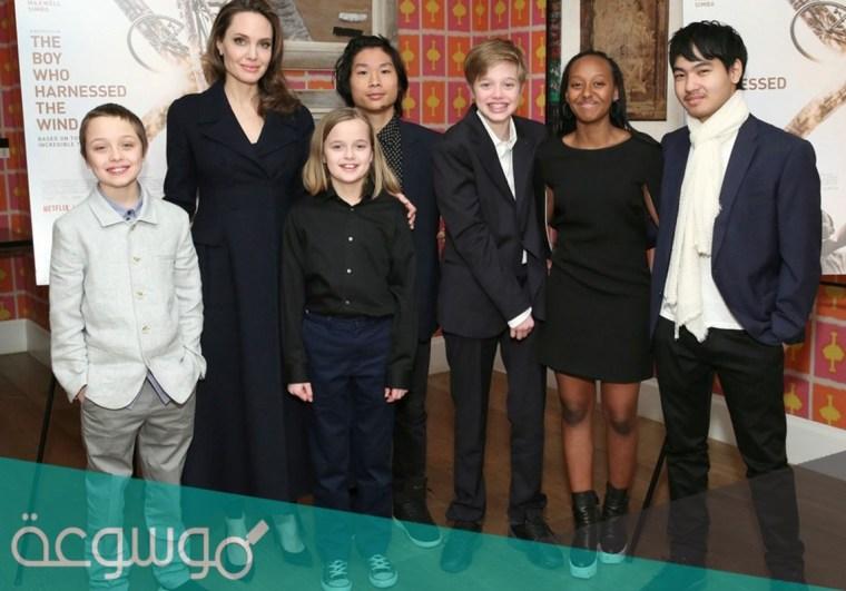 عدد اطفال انجلينا جولي