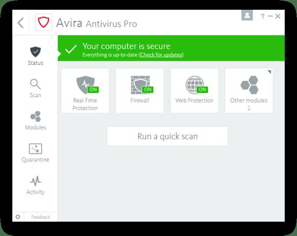 โหลด Avira Antivirus Pro 2019 [Full] ถาวร โปรแกรมสแกนไวรัสร่มแดง