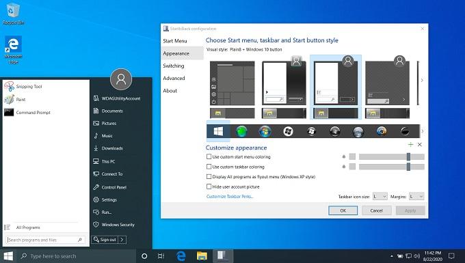 StartIsBack++ 2.9.8 [Full] ปรับแต่ง/เปลี่ยน Start Menu Windows 10