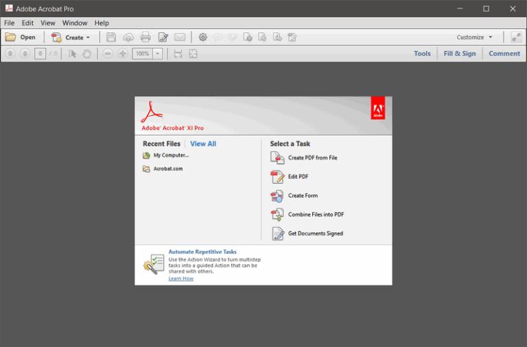 Adobe Acrobat XI Pro 11.0.23 [Full] ตัวเต็มถาวร ไฟล์ใหม่ 2020 ฟรี