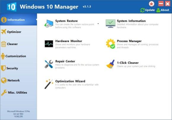 Windows 10 Manager v3.3.6 [Full] เครื่องมือจัดการ ปรับแต่ง Win10