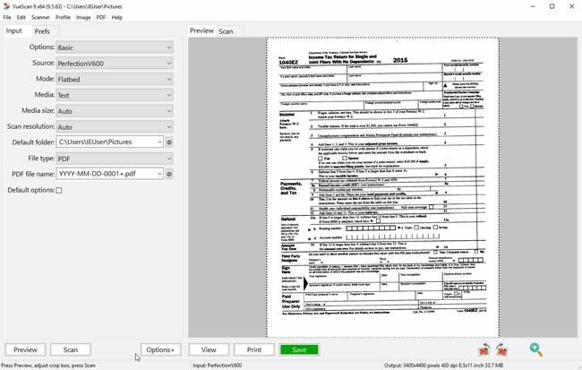 VueScan Pro Screenshot