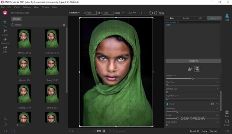 ON1 Portrait AI 2021 Screenshot