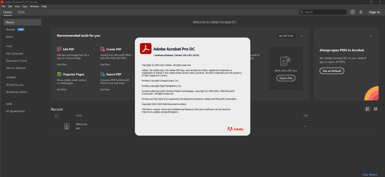 Adobe Acrobat Pro DC screenshot