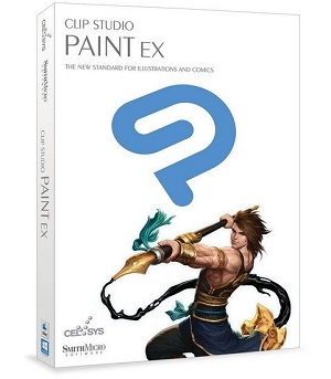 Clip Studio Paint EX logo box