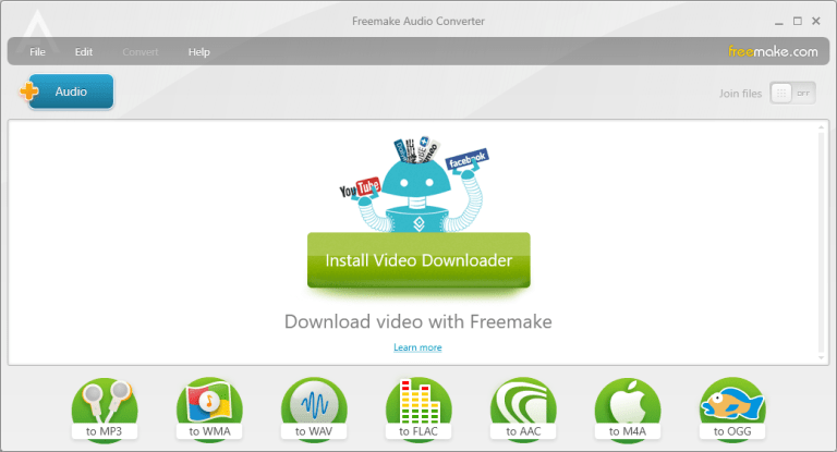Freemake Audio Converter Window