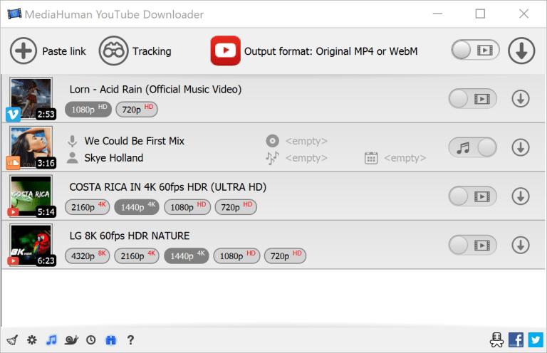 MediaHuman YouTube Downloader Screenshot