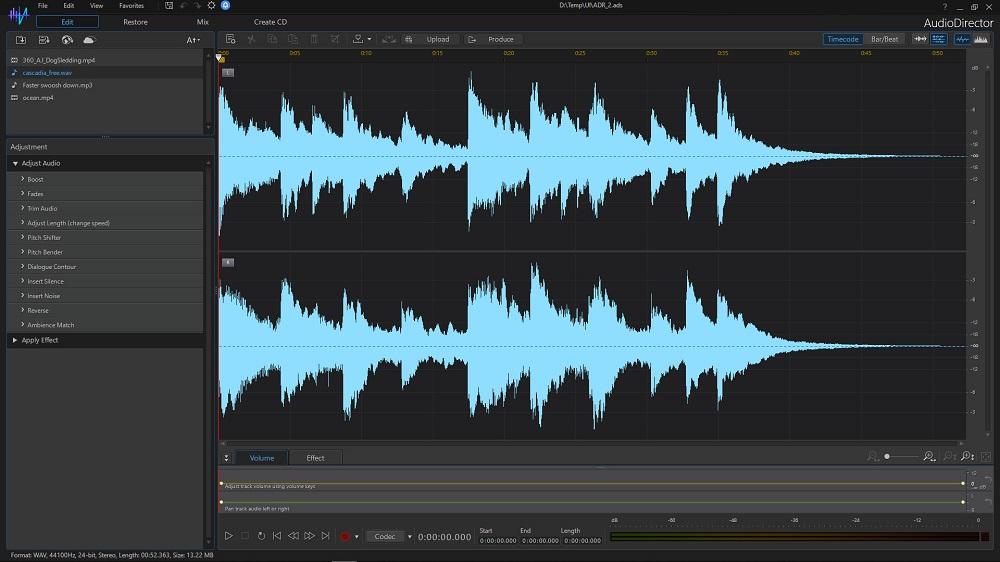 CyberLink AudioDirector Ultra 12 screenshot