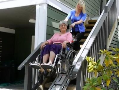portable wheelchair stair climber