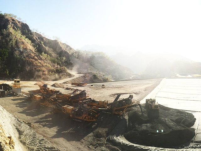 Heap leach copper ore project