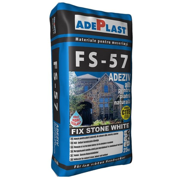 Adeziv pentru piatra Fix Stone FS-57 25 kg, alb