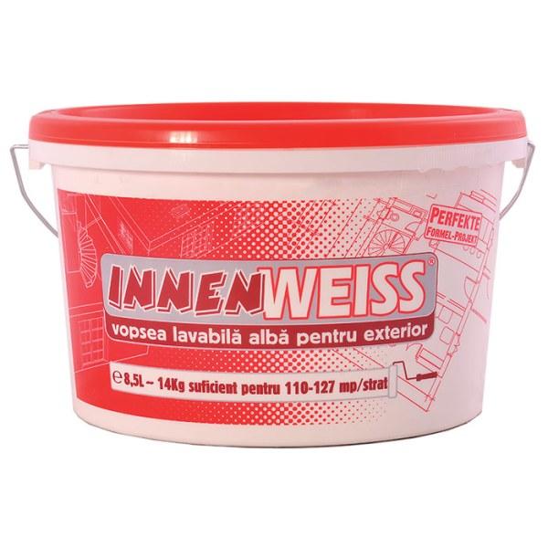 Vopsea lavabila Innenweiss exterior, alb, 8.5L