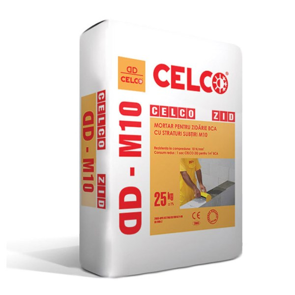 Mortar pentru zidarie BCA CELCO® ZID DDM10 25 KG