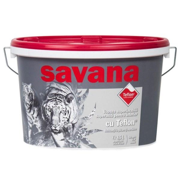 Vopsea Savana superlavabila superalba cu teflon, interior 8.5l