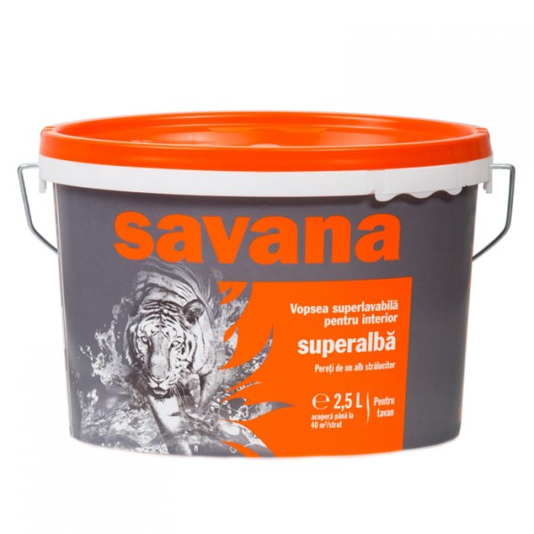 Vopsea Savana superlavabila, superalba, interior 2.5l