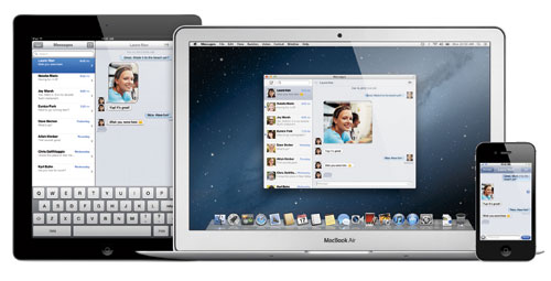 MESSAGES. Apple now allows cross-platform messaging with iMessage for iOS and Messages for OSX.