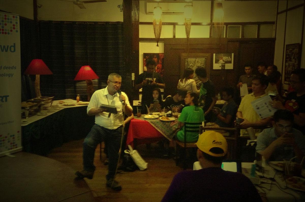 BOBOI COSTAS talks about the community-based tourism program in Aloguinsan, Cebu.