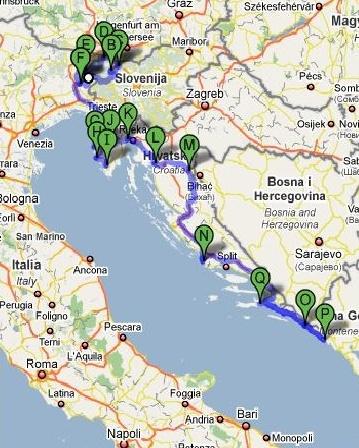 percorso croazia