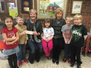 Webster Elementary School first graders Haleigh Oliverez, Arian Day, Linda Yoder, Emalyn Yazel, Susan Wagner, Brock Shortt and David Deacon raised the most money in Penny Wars.