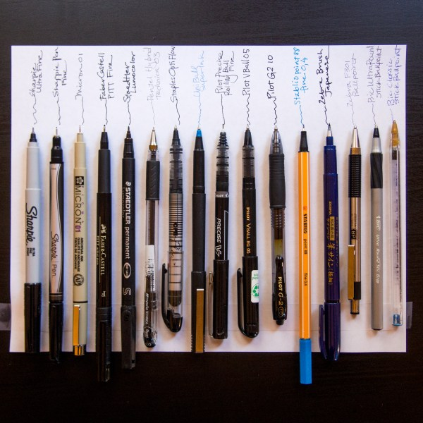 What is the best pen to write postcards with - smudgeproof and waterproof