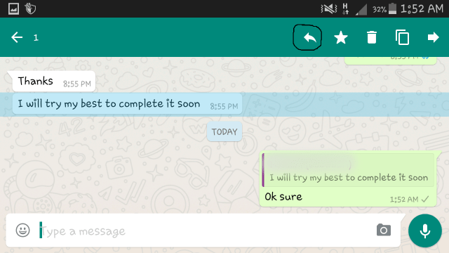Whats app reply - Whats App Features