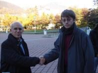 Con l'euro-deputato Vittorio Agnoletto
