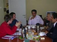 Con il segretario generale della Federazione Sindacale Mondiale, Atene 2007