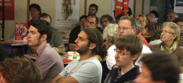 Con Aris Della Fontana e Mattia Tagliaferri al Congresso del PS a Pollegio, settembre 2011