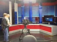 """Visita agli studi della Tv turca """"Ulusal Kanal"""", Istanbul, maggio 2012"""
