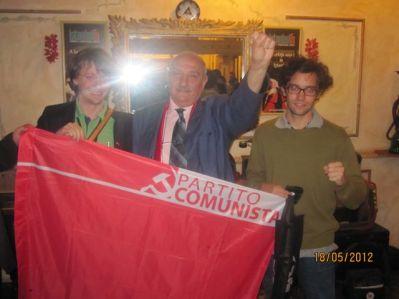 Con Slobodan Ugrinovski, presidente della Unione della Sinistra Titina di Macedonia e Gianfranco Cavalli (Gioventù Comunista), maggio 2012